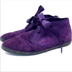 Vintage 80s Keds Purple Suede Chukka Ankle Booties